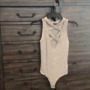 Express grey bodysuit